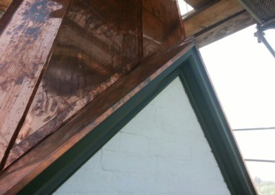 Schallläden Kirchturm verbaute Teile eingehaust mit Spenglerbleche